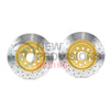 DBA Street Series X Drilled/Slotted Brake Rotors Front Pair - 04-17 STI