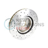 DBA Street Series X Drilled/Slotted Brake Rotors Front Pair - 15-19 WRX / 14-18 FXT