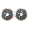 DBA T2 Street Series Slotted Brake Rotors Rear Pair - 15-19 WRX