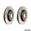 DBA 4000 Series T3 Slotted Brake Rotors Pair - 06-07 WRX