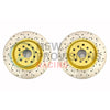 DBA 4000 Series Drilled/Slotted Brake Rotors Front Pair - 15-19 WRX / 14+ FXT