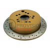 DBA 4000 Series Drilled/Slotted Brake Rotors Rear Pair - 08-14 WRX