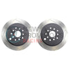 DBA T2 Street Series Slotted Brake Rotors Rear Pair - 08-19 WRX w/ STI Brembo Calipers
