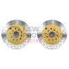 DBA Street Series X Drilled/Slotted Brake Rotors Rear Pair - 08-17 STI
