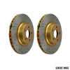 DBA Street Series Drilled & Slotted Brake Rotors Pair - 08-10 WRX