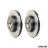 DBA T2 Street Series Slotted Brake Rotors Pair - 06-07 WRX