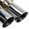 "Remark Stainless Tip Non Resonated 4"" Quad Catback Exhaust - 15-20 WRX/STI"