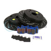 EBC Brakes S6 Rear Brake Kit Bluestuff Pads and 3GD Rotors - 08-17 STI