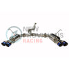 ETS Quiet Catback Exhaust System Resonated w/ Blue Tips - 15-19 WRX/STI