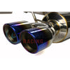 ETS Quiet Catback Exhaust System Resonated w/ Blue Tips - 15-18 WRX/STI