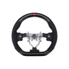 FactionFab Black Carbon and Leather Steering Wheel - 08-14 WRX/STI