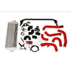GrimmSpeed Front Mount Intercooler Kit Silver Core Red Piping - 15-20 WRX