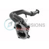 GrimmSpeed Downpipe Catted Divorced Ceramic Coated - 08-14 WRX / 08+ STI / 05-09 LGT