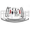 IAG PTFE Flex Fuel System Kit w/ Lines, FPR & Red Fuel Rails - 08-14 WRX