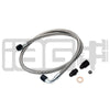 IAG Performance High Pressure Braided Power Steering Lines (OEM Routing) - 02-07 WRX/STI