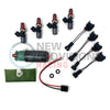 New Provisions Racing Fuel Upgrade Combo 1050x Injectors w/ PnP Adapters and AEM 340lph Fuel Pump - 08-20 STI / 08-14 WRX