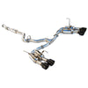 Invidia Gemini (R400) Single Layer Quad Tip Catback Exhaust - Black Tips - 15-20 WRX/STI