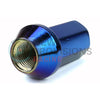 Project Kics M12x1.25 Blue Titanium Closed End Lug Nuts