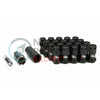 Project Kics R40 Iconix 16+4 Locks M12x1.25 Lug Nuts - Black