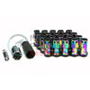 Project Kics R40 Iconix 16+4  Neo Chrome Locking Lug Nuts 12x1.25 - Universal