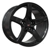 Option Lab R555 18x9.5 5x114.3 +38 Gotham Black Wheel - Universal