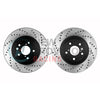 StopTech Sport Drilled Brake Rotors Front Pair - 05-17 STI