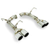 Remark Axleback Muffler Delete Single Wall Polished Tips - 15-19 WRX/STI