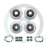 StopTech Slotted Brake Rotor Package Deal - Choice of Pads - 08-10 WRX