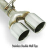 Remark Axleback Muffler Delete Double Wall Polished Tips - 15-19 WRX/STI