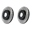 StopTech Drilled Sport Brake Rotors Pair 08-10 WRX