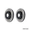 StopTech Drilled and Slotted Sport Rotors Pair Front - 05-17 STI