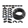 Torque Solution Braided Fuel Line Kit for -6 Aeromotive FPR and Flex Fuel - 04+ STI / 02-14 WRX