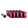 Volk Racing Dura-Nut 12x1.25 Lock and Nut Set Red - Universal