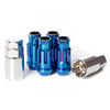 Muteki SR48 Open End Locking Lug Nuts Set M12x1.25 - Chrome Burning Blue