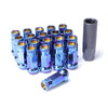 Muteki SR48 Open End Lug Nuts M12x1.25 - Chrome Burned Blue