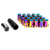 Muteki SR35 16+4 Closed Ended Neo Chrome Lug Nuts 35mm 12x1.25 - Universal