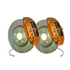 Brembo OE Gold Calipers Slotted Rotor Brake Kit - FRONT - 02-14 WRX
