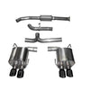 Corsa Cat-Back Exhaust - Black Diamond Tips - 15-20 WRX/STI