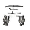 Corsa Cat-Back Exhaust - Polished Tips - 15-20WRX/STI