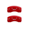MGP Caliper Covers - Red Finish Silver Engraving - Set of 4 Front/Rear - 15+ WRX