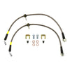 FactionFab Rear Stainless Steel Brake Lines - 08-17 STI / 13+ BRZ