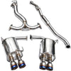 Invidia Q300 Catback Exhaust Titanium Tips Single Wall - 15-20 WRX/STI