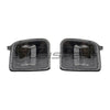 OLM USDM LED Front Turn Signal Housings Clear Lens Black Reflector - 15-17 WRX/STI