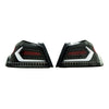 Subispeed Evolution Tail Lights by OLM Clear Lens, Black Base, White Bar - 15-20 WRX/STI