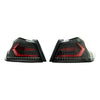 Subispeed Evolution Tail Lights by OLM Clear Lens, Black Base, Red Bar - 15-20 WRX/STI