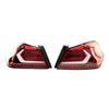 Subispeed Evolution Tail Lights by OLM Clear Lens, Red Base, White Bar - 15-20 WRX/STI