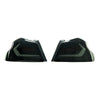 Subispeed Evolution Tail Lights by OLM Smoked Lens, Black Base, White Bar - 15-20 WRX/STI