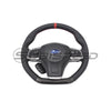 Subispeed JB Style Carbon Fiber / Leather Steering Wheel - 15-19 WRX/STI