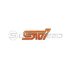 STI Orange Trunkk Emblem w/ Matte Black Border - 15+ WRX/STI