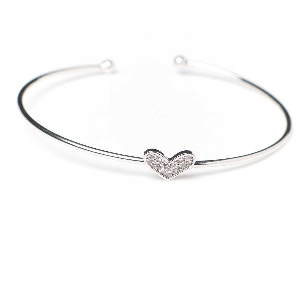 Amor - Platinum plated bracelet with zirconium crystals 1